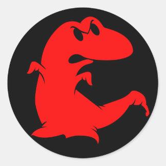 Dinosaur Ghost Classic Round Sticker