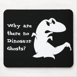 Dinosaur Ghost Mouse Pad