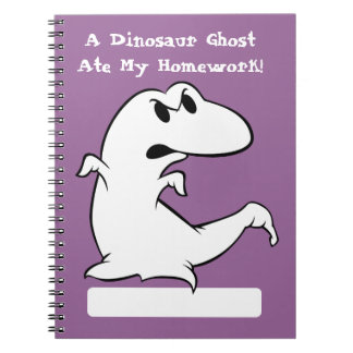 Dinosaur Ghost Notebooks