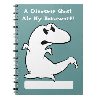 Dinosaur Ghost Spiral Notebook
