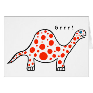 Dinosaur Grrr! Birthday Card