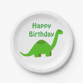 Dinosaur Happy Birthday Party Paper Plate