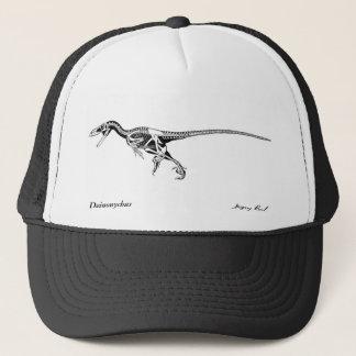 Dinosaur Hat Deinonychus skeleton  Gregory Paul