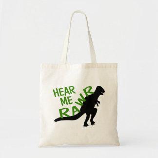 Dinosaur Hear Me Rawr Tote Bag