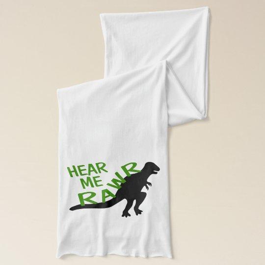 Dinosaur Hear Me Rawr Scarf