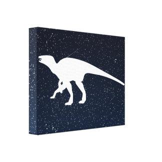 Dinosaur Herbivores Sign Stretched Canvas Print