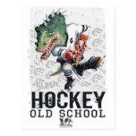 Dinosaur Hockey Slash Gear Post Card