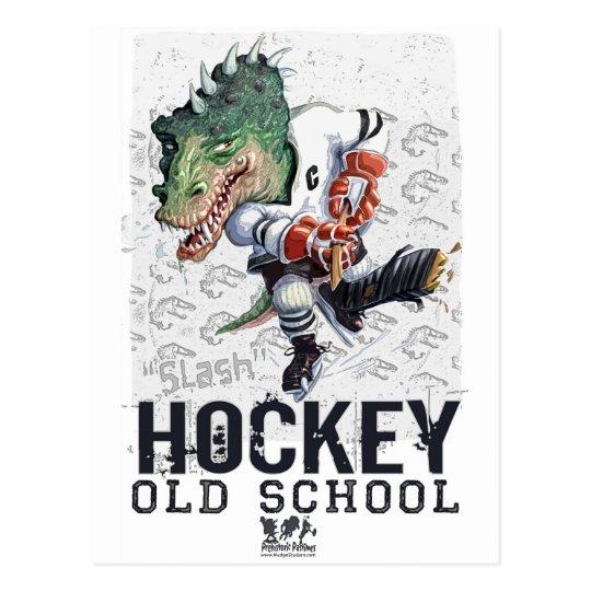 Dinosaur Hockey Slash Gear Postcard