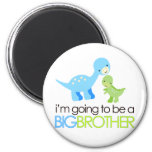 Dinosaur I'm Going to Be A Big Brother 6 Cm Round Magnet