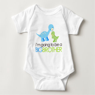 Dinosaur I'm Going to Be A Big Brother Infant Creeper