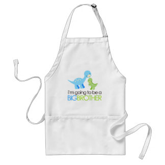 Dinosaur I'm Going to Be A Big Brother Standard Apron