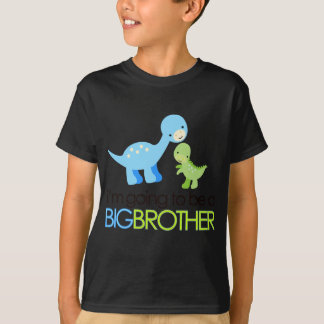 Dinosaur I'm Going to Be A Big Brother T-Shirt