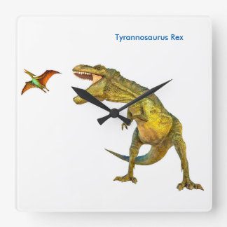 Dinosaur image for Square-Wall-Clock Square Wall Clock
