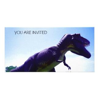 Dinosaur Invitation Customised Photo Card