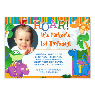 Dinosaur Invitation - Kids Birthday