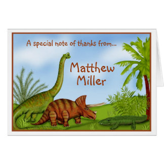 Dinosaur Jurassic Jungle Thank you  Note card