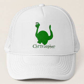 Dinosaur Just Add Name Trucker Hat