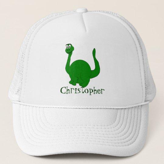 Dinosaur Just Add Name Trucker Hat