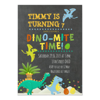 Dinosaur Kids Birthday invitation