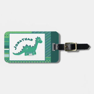 Dinosaur kids luggage tag. luggage tag