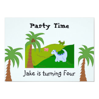 Dinosaur Land Birthday Party Invitation