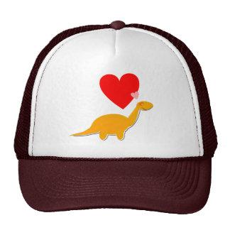 Dinosaur Love Heart Diplodocus Cap Mesh Hat