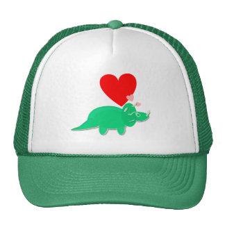 Dinosaur Love Heart Triceratops Cap Hat