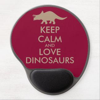Dinosaur Lover Gift Keep Calm Triceratops Custom Gel Mouse Mat