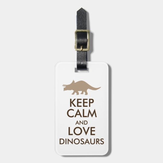 Dinosaur Lover Gift Keep Calm Triceratops Custom Luggage