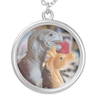 Dinosaur Loves Pony Necklace