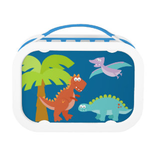 Dinosaur Lunch Box Personalised with Childs Name