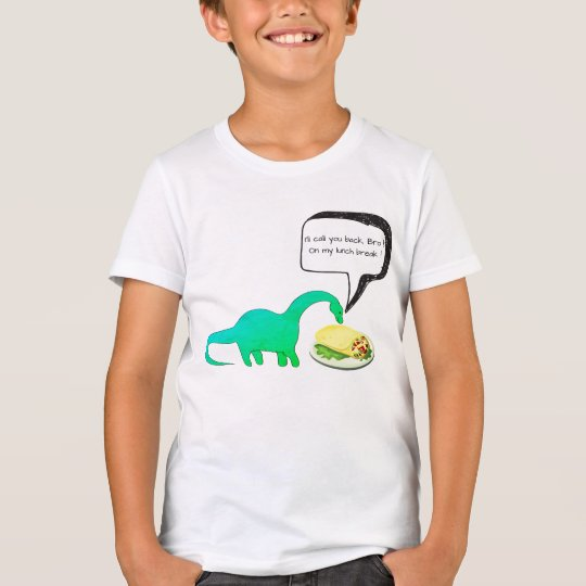 Dinosaur Lunch Break Burrito Funny T-Shirt