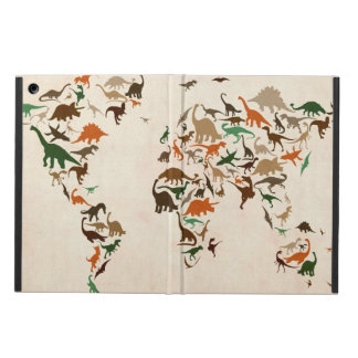 Dinosaur Map of the World Map iPad Air Cover