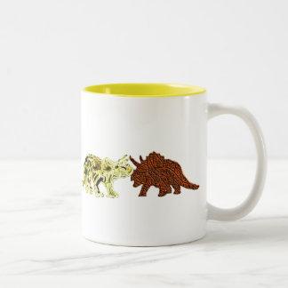 Dinosaur Mates Two-Tone Mug