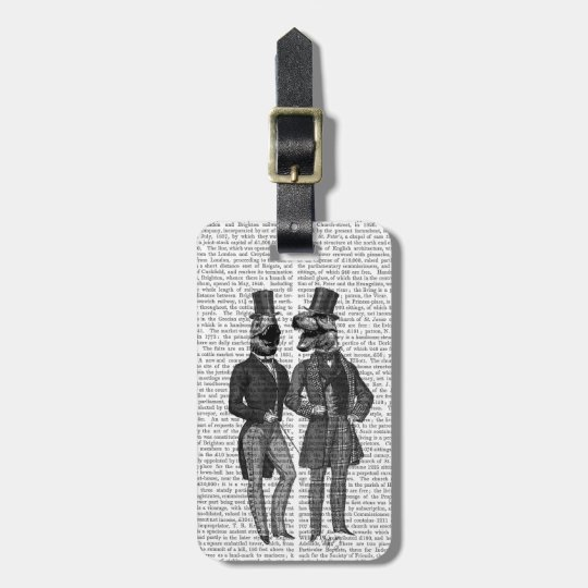 Dinosaur Men Lads Night Out Luggage Tag