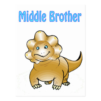 dinosaur middle brother postcard
