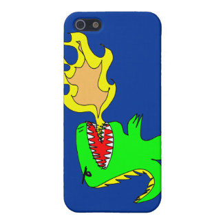 Dinosaur or Dragon Art by little t + Joseph Adams Case For The iPhone 5