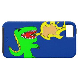 Dinosaur or Dragon Art by little t + Joseph Adams iPhone 5 Case