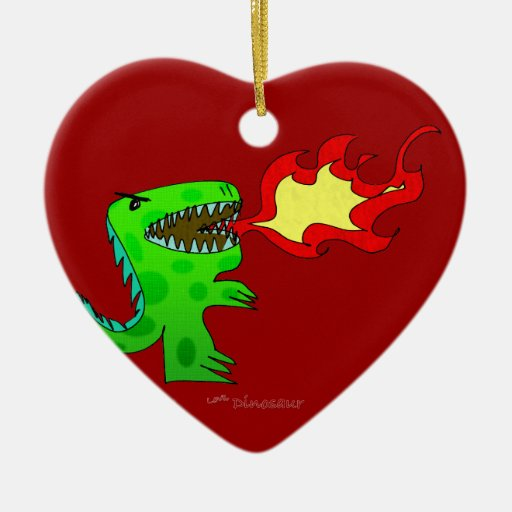 Dinosaur or Dragon by Jessica Jimerson - 2 Christmas Tree Ornament