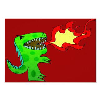 Dinosaur or Dragon by Jessica Jimerson - 2 9 Cm X 13 Cm Invitation Card