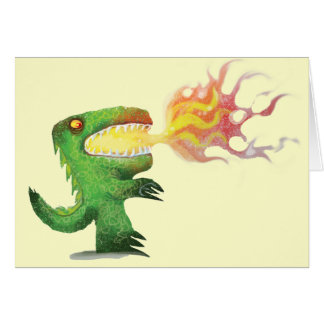 Dinosaur or Dragon by little t and Abdul Rasheed Greeting Card