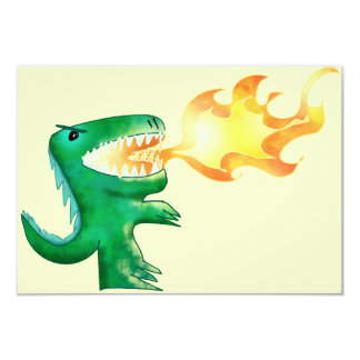 Dinosaur or Dragon by little t and Andrew Harmon 9 Cm X 13 Cm Invitation Card