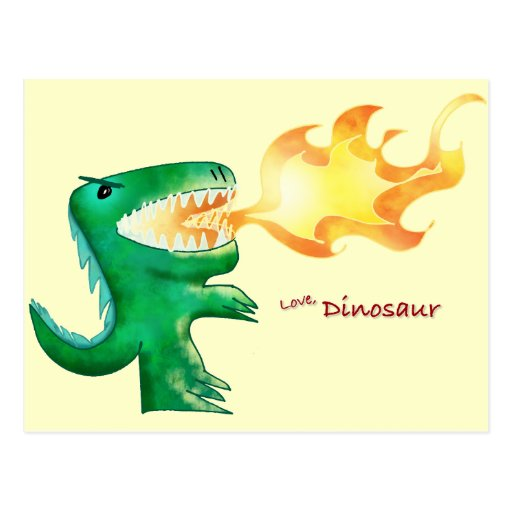 Dinosaur or Dragon by little t and Andrew Harmon Post Card