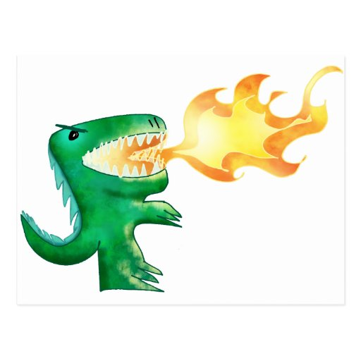Dinosaur or Dragon by little t and Andrew Harmon Postcards