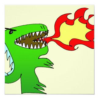 Dinosaur or Dragon by little t + Jessica Jimerson 13 Cm X 13 Cm Square Invitation Card