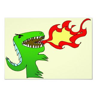 Dinosaur or Dragon by little t + Jessica Jimerson 9 Cm X 13 Cm Invitation Card