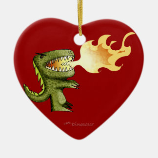 Dinosaur or Dragon kids art with Loston Wallace Christmas Ornament