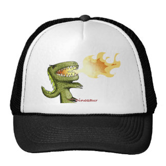 Dinosaur or Dragon kids art with Loston Wallace Trucker Hat