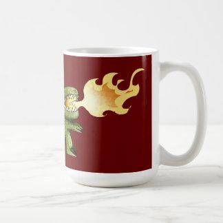 Dinosaur or Dragon kids art with Loston Wallace Coffee Mugs