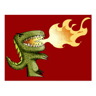Dinosaur or Dragon kids art with Loston Wallace Postcard